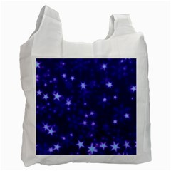 Blurry Stars Blue Recycle Bag (one Side)