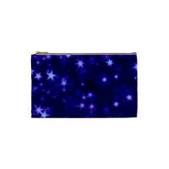 Blurry Stars Blue Cosmetic Bag (small)
