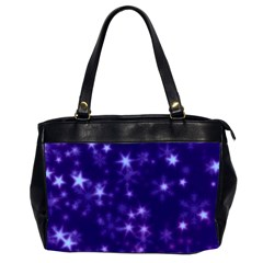Blurry Stars Blue Office Handbags (2 Sides)