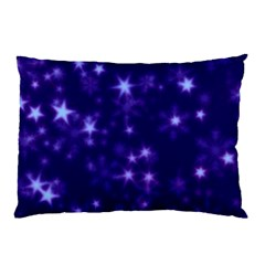 Blurry Stars Blue Pillow Case (two Sides)