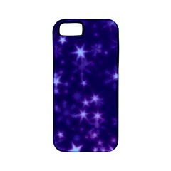 Blurry Stars Blue Apple Iphone 5 Classic Hardshell Case (pc+silicone)