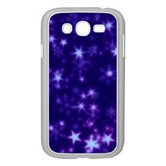 Blurry Stars Blue Samsung Galaxy Grand Duos I9082 Case (white)
