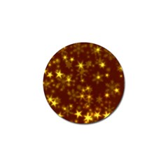 Blurry Stars Golden Golf Ball Marker (10 Pack)