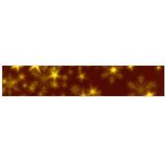 Blurry Stars Golden Large Flano Scarf