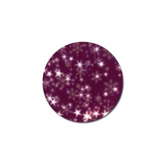Blurry Stars Plum Golf Ball Marker (4 Pack)