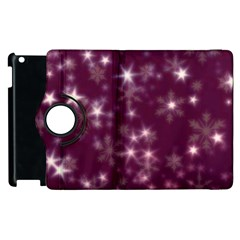 Blurry Stars Plum Apple Ipad 2 Flip 360 Case
