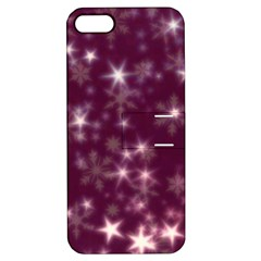 Blurry Stars Plum Apple Iphone 5 Hardshell Case With Stand