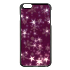 Blurry Stars Plum Apple Iphone 6 Plus/6s Plus Black Enamel Case