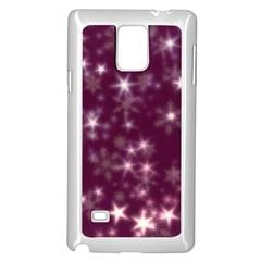 Blurry Stars Plum Samsung Galaxy Note 4 Case (white)