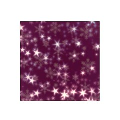 Blurry Stars Plum Satin Bandana Scarf