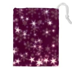 Blurry Stars Plum Drawstring Pouches (xxl)