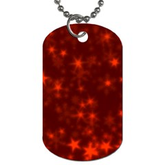 Blurry Stars Red Dog Tag (one Side)