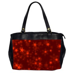 Blurry Stars Red Office Handbags (2 Sides)