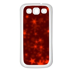 Blurry Stars Red Samsung Galaxy S3 Back Case (white)