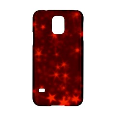Blurry Stars Red Samsung Galaxy S5 Hardshell Case
