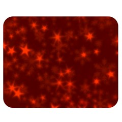 Blurry Stars Red Double Sided Flano Blanket (medium)