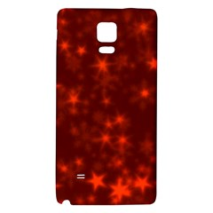Blurry Stars Red Galaxy Note 4 Back Case