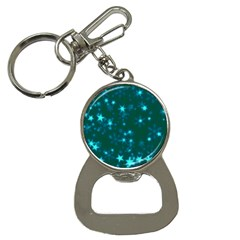 Blurry Stars Teal Button Necklaces