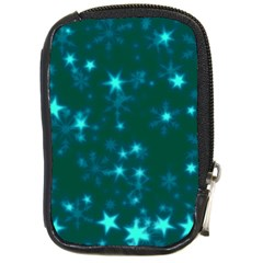 Blurry Stars Teal Compact Camera Cases