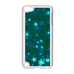 Blurry Stars Teal Apple Ipod Touch 5 Case (white)