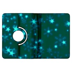 Blurry Stars Teal Kindle Fire Hdx Flip 360 Case