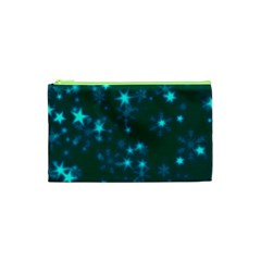 Blurry Stars Teal Cosmetic Bag (xs)