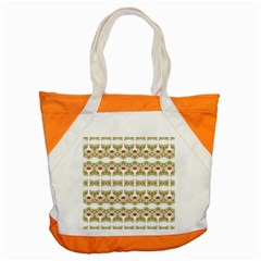 Striped Ornate Floral Print Accent Tote Bag