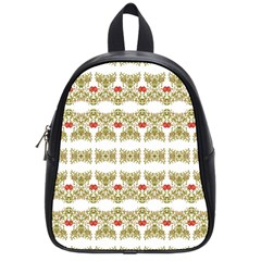 Striped Ornate Floral Print School Bag (small)