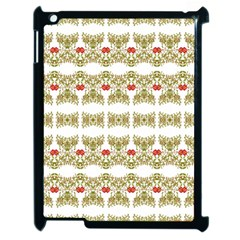 Striped Ornate Floral Print Apple Ipad 2 Case (black)
