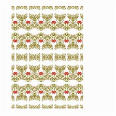 Striped Ornate Floral Print Large Garden Flag (two Sides)
