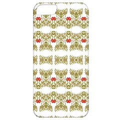 Striped Ornate Floral Print Apple Iphone 5 Classic Hardshell Case