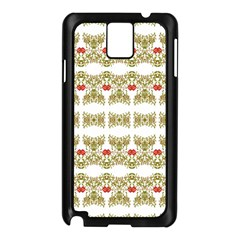 Striped Ornate Floral Print Samsung Galaxy Note 3 N9005 Case (black)