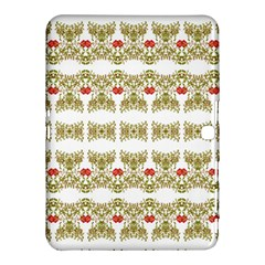 Striped Ornate Floral Print Samsung Galaxy Tab 4 (10 1 ) Hardshell Case