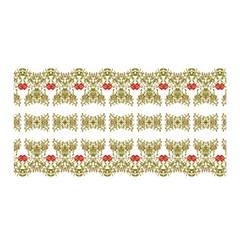 Striped Ornate Floral Print Satin Wrap