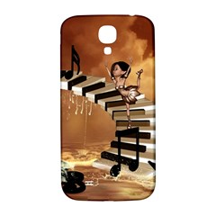 Cute Little Girl Dancing On A Piano Samsung Galaxy S4 I9500/i9505  Hardshell Back Case