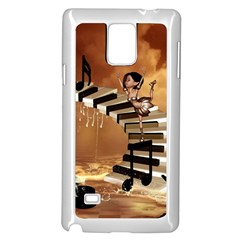 Cute Little Girl Dancing On A Piano Samsung Galaxy Note 4 Case (white)