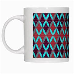 Rhomboids Pattern 2 White Mugs