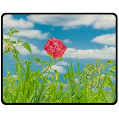 Beauty Nature Scene Photo Double Sided Fleece Blanket (medium)