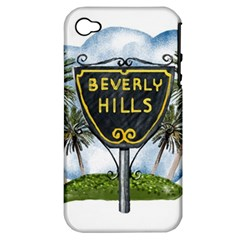 Beverly Hills Apple Iphone 4/4s Hardshell Case (pc+silicone)