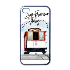 San Francisco Trolley California Bear Apple Iphone 4 Case (black)