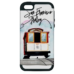 San Francisco Trolley California Bear Apple Iphone 5 Hardshell Case (pc+silicone)