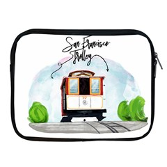 San Francisco Trolley California Bear Apple Ipad 2/3/4 Zipper Cases