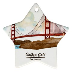 San Francisco Golden Gate Bridge Ornament (star)