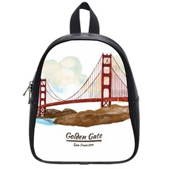 San Francisco Golden Gate Bridge School Bag (small)