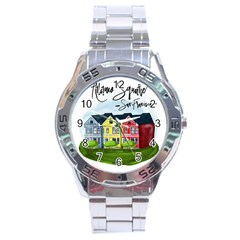 San Francisco Alamo Square Stainless Steel Analogue Watch