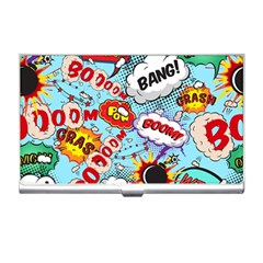 Comic Pattern Business Card Holders