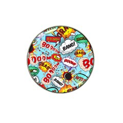 Comic Pattern Hat Clip Ball Marker (10 Pack)