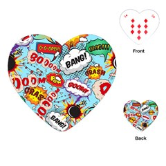 Comic Pattern Playing Cards (heart)