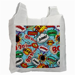 Comic Pattern Recycle Bag (one Side)