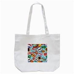 Comic Pattern Tote Bag (white)